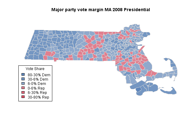 MA 2008 Presidential results