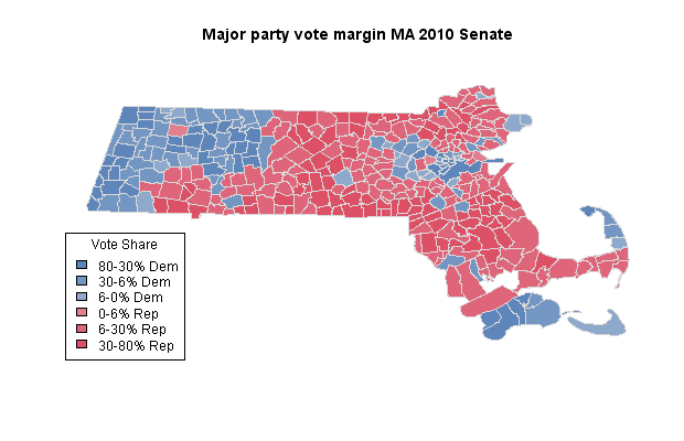 Mapping MA election results