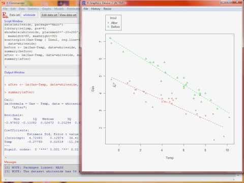 R Commander – linear regression
