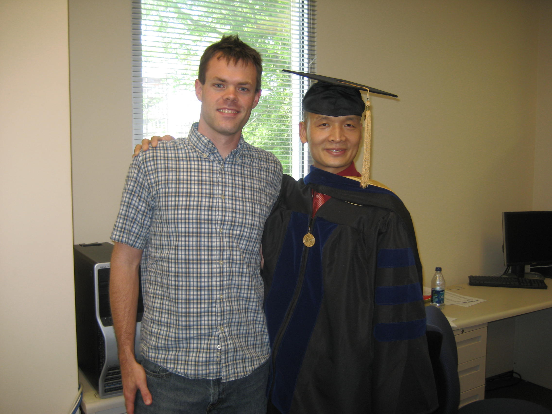 Picture of me with Chengwu Yang, PhD