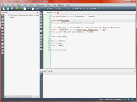 Creating a Presentation with LaTeX Beamer – Getting Started
