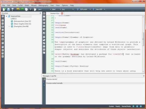 Creating a Presentation with LaTeX Beamer – Basic Slides