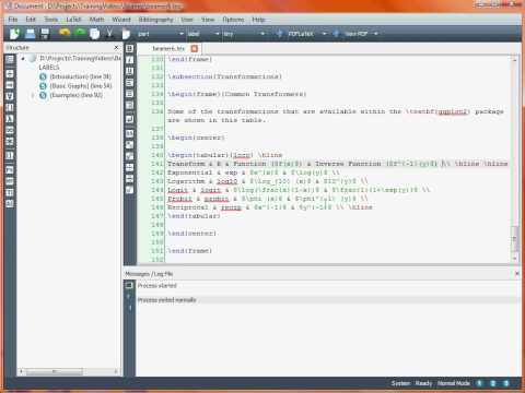 Creating a Presentation with LaTeX Beamer – Tables