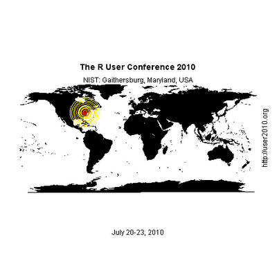 Maps, Geocoding, and the R User Conference 2010
