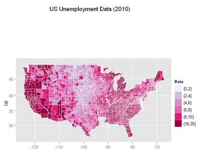 U.S. Unemployment Data: Animated Choropleth Maps