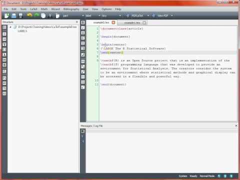 LaTeX Typesetting – Basics