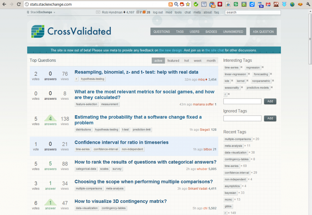 CrossValidated launched!