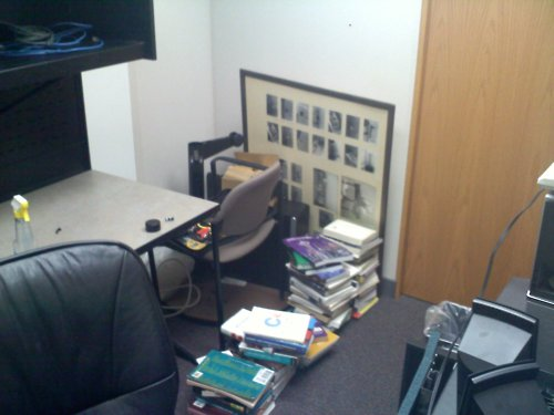 Rearranging the office to find a fresh perspective. Hasn't…