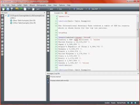 LaTeX Typesetting – Tables