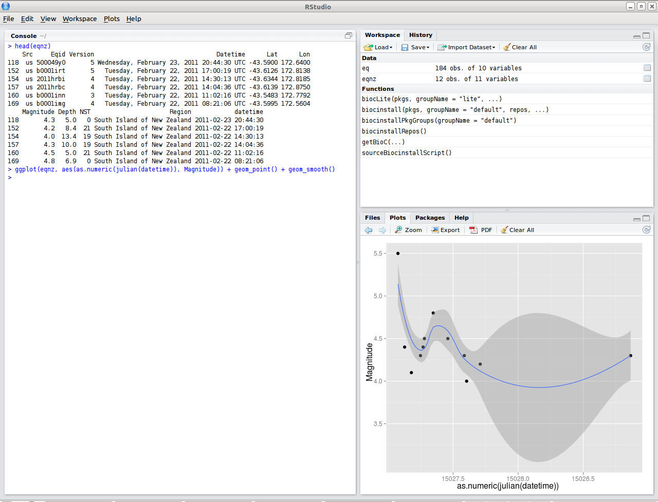 The RStudio IDE: first impressions are positive