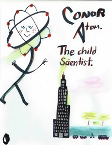 "Conor Atom, a book for ""children scientists"" (an indiegogo campaign)"