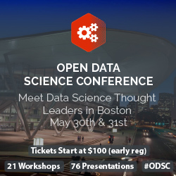 Discount for the Open Data Science conference (@Boston / May 30th)