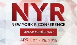 The first NYC R Conference is being held at Work-Bench April 24-25