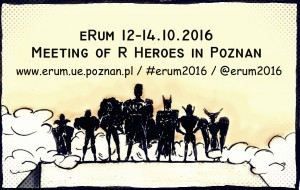 european R users meeting (eRum) 2016 – Call for Workshops deadline (by  15th of April)