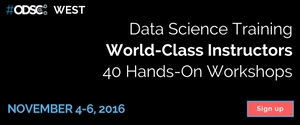 ODSC West 2016 – 20% off discount code for training with leading R experts
